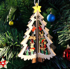 3D Wooden Xmas Home Party Decor Hanging Christmas Tree Pendants Decoration