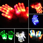 Cool LED Rave Flashing Magic Gloves Glow Light Up Fingers Colorful  Lighting New