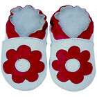 Free shipping Prewalker Infant Soft Sole Leather Baby Shoes Poppy White 0-5years