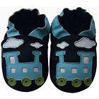 Free shipping Newborn Prewalker Soft Sole Leather Baby Shoes Train Navy 0-5years