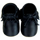 Free shipping Newborn Crib Soft Sole Leather Baby Shoes Mocassin Black 0-2years