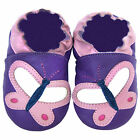 Free shipping Prewalker Soft Sole Leather Baby Shoes Butterfly Lilac  0-5 yrs