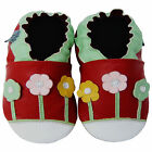 Free shipping Baby Boy Shoes Up To 5years Soft Sole Leather Kids Shoes Daisy Red