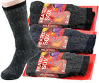 Lot 1-12 Pairs Mens Heavy Duty Winter Warm Thermal Heated Thick Socks Size 10-13
