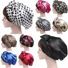 Satin Bow Headscarf Sleeping Bonnet Hair Wrap women Silk Cap Headband Headwear