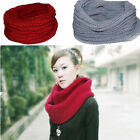 1PCS Neck Scarf Winter New Women Knit Cowl Warm Infinity Cable 1 Circle Shawl