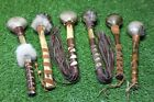 Red Deer Rawhide Rattle. Shaman Healing Rattle.Filled with Three Sister Beans