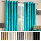 Luxury Crushed Velvet Lined Heavy Weight Eyelet Curtains Pair