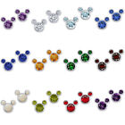 Valentines Day Sterling Silver 925 Earrings Gemstone Birthstone Mouse