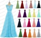 Long Chiffon-LaceEvening-Formal-Party-Ball-Gown-Prom-Bridesmaid-Dress-Size-6-26