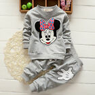 Kids Baby Girls Minnie Mouse Tops Winter T-Shirt Pant 2pcs Outfits Set Tracksuit