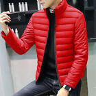 Winter Mens Warm Quilted Cotton Down Padded Bubble Puffer Jacket Coat Parka 4XL