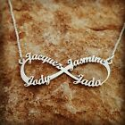 Personalized necklace, xmas gift custom made, 1-4 names, name necklace silver