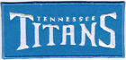 NFL Tennessee Titans Text Logo National Football League Badge Embroidered Patch $5.99 USD on eBay