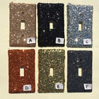 Champagne Black Silver Orange Gold Grey Glitter Switchplate Outlet Double