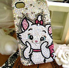 Cute Cat Customized Bling Top A CLASS Crystal Phone Case Cover for Various phone