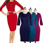 Formal Successful Women Ladies Bodycon Business Cocktail Sexy Pencil Dress