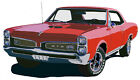 Pontiac 1967 GTO canvas art print by Richard Browne blue or red available
