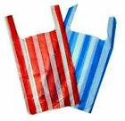100 NEW LARGE Candy Stripe Plastic Vest Carrier Medium Bags