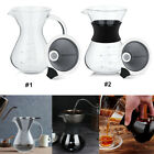 Glass Coffee Maker Filter Pot with Scale Office Home Stainless Steel Mesh Filter