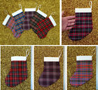 SMALL TARTAN CHRISTMAS STOCKING - Choose From Selection