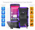 For Huawei - Shockproof Hybrid Case Cover, Glass Protector & Mini Pen