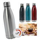 Stainless Steel Flask 500ml Thermos Vacuum Hot Bottle Lid Insulated Travel Work