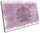 Christmas Decoration Wall Canvas ART Print XMAS Picture Gift Hessian 05 Violet C