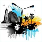 Bildmotiv *urban architecture  and palms Illustration*