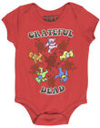 Babies Grateful Dead One Piece Bodysuit Deadhead Bears Red
