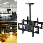 """32""""-65"""" Flat Screen Dual TV Monitor Ceiling Mount Holder Stand Height Adjustable"""