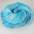 Pure Belgian LINEN YARN DK knitting, crochet, HAND-DYED top QUALITY Lagoon