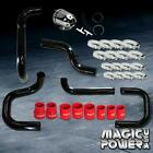 Black Intercooler Piping  + Smoke SSQV BOV  + Red Couplers for 1994-2001 Integra