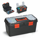 "13"" 16"" 19"" TOOL BOXES WITH HANDLE TRAY DIY STORAGE  PLASTIC TOOLBOX MAESTRO"