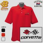 C3 Corvette Embroidered Men's Cutter & Buck Ace Polo Shirt BDC3EP8017