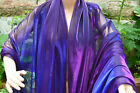 M21 Royal Blue Purple Iridescent 2 Tones Stretch Mesh Net Fabric Material