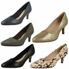 Ladies Clarks Leather Slim Heel Pointed Toe Court Shoes - Isidora Faye
