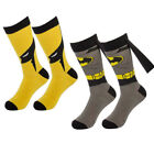 Bioworld Superhero Socks Men's Crew, Comic-Book Characters, Fits Shoe Size 8-12