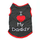 Love Daddy Black w/dot Dog Apparel Shirt Pet Clothing Clothes Cat Puppy Outfit