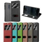 BOOK Cover CASE with Smart Windows for LG NOKIA SAMSUNG Flip VIEW Wallet
