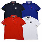 Tommy Hilfiger Shirt Mens Polo Custom Fit H Logo Mesh Knit S