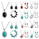 Vogue Prom Wedding Bridal Jewelry Turquoise Alloy Necklace Earring Bracelet Set