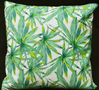 LF817a White Green leaf Cotton Canvas Cushion Cover/Pillow Cover