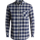 Quiksilver Motherfly Flannel Mens Shirt Long Sleeve - Medieval Blue All Sizes