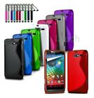 For All HTC Models - S-Line Wave Gel Silicone Case Cover & Ret Pen