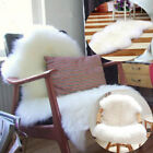 Soft Sheepskin Rug Chair Cover Warm Seat Pad Hairy Carpet Plain Skin Fur Plain