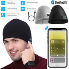 Women Warm Bluetooth Beanie Hat Smart Cap Wireless Headset Headphone Speaker Mic