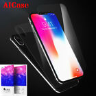 Front + Back Tempered Glass Screen Protector Full Guard Film F iPhone X 8 7 Plus