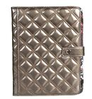 NWT GUNMETAL/BLACK/BRONZE BIG BUDDHA QUILTED POLYURETHANE E-READER HOLDER CASE