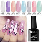 7.5ml Soak Off UV Gel Nagellack Kristall Opal Gelee halbtransparent Nagel Dekor